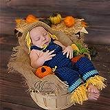 Disfraz de fotografía para bebé recién Nacido Cien Días de Vestuario Fotografía de bebé Tejida a Mano Creativa de Fotos de Disfraces de Halloween espantapájaros Traje Suave de fotografía para bebés