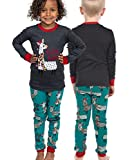 Lazy One Matching Family Pajama Sets for Adults, Teens, Kids, and The Dog (FA La La Llama, 4T)