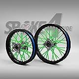 color tree 36pcs//Lot Spoke Skins Cubiertas Fundas De Radio De Rueda Llantas para Moto Motocros