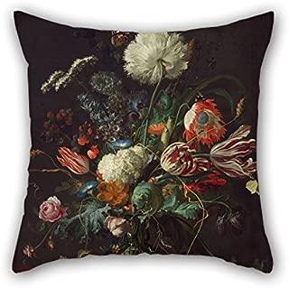 Pillow Cases Of Oil Painting Jan Davidsz De Heem - Vase Of Flowers 18 X 18 Inch / 45 By 45 Cm,best Fit For Boy Friend,chair,bar Seat,saloon,gf,kids Room Two Sides