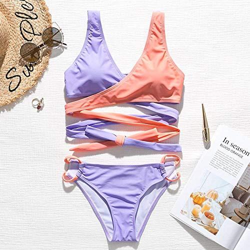 Bikini Sexy Brasilianische Bikinis Mujer Push Up Badeanzug Weiblich Bandage Badebekleidung Frauen Biquinis High Cut Bikini Set Badeanzug Neu L X19Sw2626-1