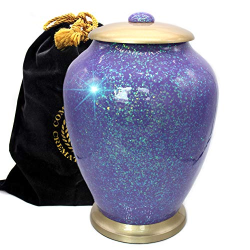 Shimmering Light Cremation Urns for Human Ashes Adult for Funeral, Niche, Burial or Columbarium, Urns for Ashes Adult (Cosmic, Large)