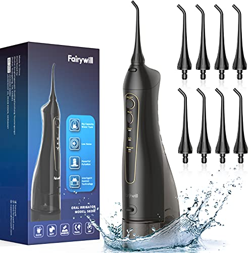 Water Flossers for Teeth, Fairywill 300ML Cordless...
