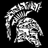 佑树-ゆうき 心 いちろう 13.3CMX15.5CMスパルタビニールオートバイのヘルメット銃の装飾的なステッカーカーステッカーブラック/シルバーC1-3168 (Color Name : Silver)