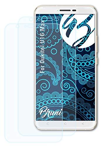 Bruni Schutzfolie kompatibel mit Oukitel U16 Max Folie, glasklare Bildschirmschutzfolie (2X)