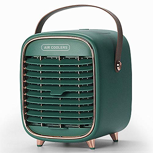 ELEAR Air Cooler, Mini Portable Air Conditioner Fan Noiseless Evaporative Air Humidifier Personal Space Air Conditioner Purifier 3 Gear Speed with Handle for Home Office Bedroom