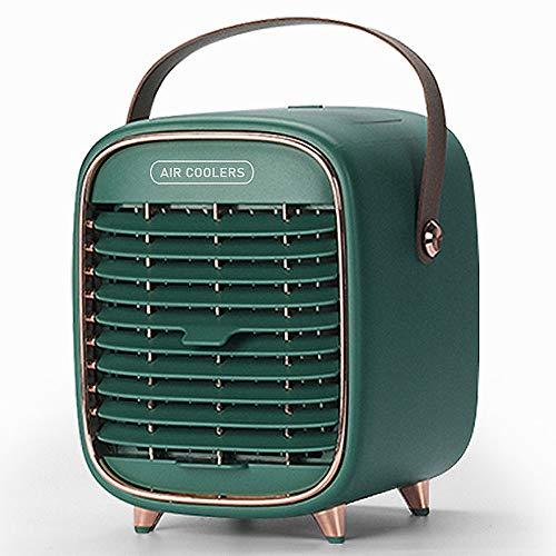 Mdurian Mobile Klimageräte, Mini Luftkühler Klein Persönliche Klimaanlage Luftbefeuchter Luftreiniger USB Ventilator 3 Geschwindigkeiten mit 5000mAh Akku für Zuhause Büro Auto