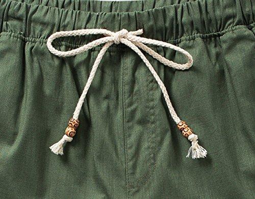 Men's Linen Casual Lightweight Drawstrintg Elastic Waist Summer Beach Pants 5