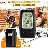 JSX Digital Wireless BBQ Thermometer, Küche Ofen Kein Kochen Grill Smoker Fleisch-Thermometer Mit...