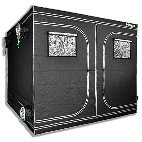 MATRIX Horticulture 96'x96'x80' Grow Tent Diamond Mylar 600D Hydroponic Growing Room Box for Indoor...