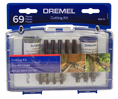 Kit Dremel de acessórios de microrretífica para cortar com 69 peças, modelo 688