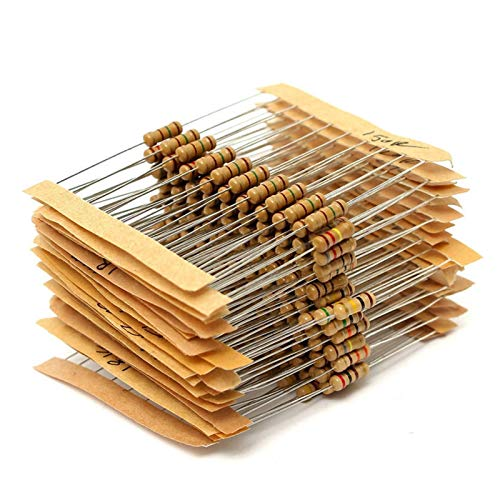 XIALITR Potenciómetro 300 unids 30 Valor 1OHM-3M Ohm 1 / 2W Película de Carbono Resistencias de Metal Kit Surtido Conjunto Nuevo 30 Valor Resistor