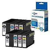 ECSC Compatibile Inchiostro Cartuccia Sostituzione per Canon MAXIFY MB2050 MB2150 MB2155 MB2350 MB2750 MB2755 PGI1500XL (B/C/M/Y, 8-Pack)