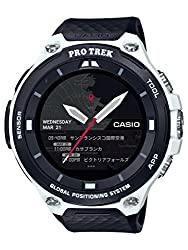 Casio Pro Trek Smart WSD-F20 Android Wear GPS Smartwatch - Casio Men's 'PRO TREK' Quartz Resin Outdoor Smartwatch, Color Black