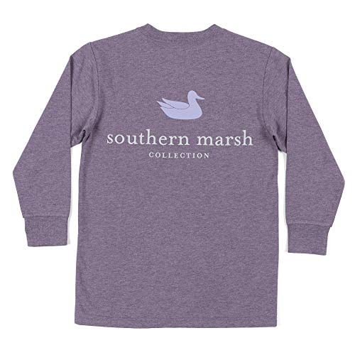Youth Ls Authentic, Washed Iris, Youth Small