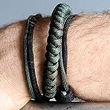 EDC Every Day Carry Self Defense Bracelet (Green, Cobra)