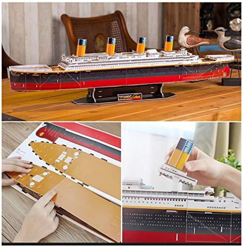 Revell 170 RMS Titanic, das wohl berühmteste Schiff Welt in 3D entdecken, Bastelspass für Jung und Alt, farbig
