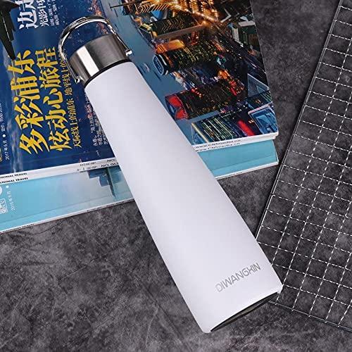Botella Agua Deporte,Para Cantimploras para Gimnasio, Bicicleta, Colegio, Oficina, Viajes -blanco_500ml
