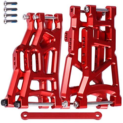 Front & Rear Aluminum Suspension Control A Arms w/Tie Bar for Traxxas 1/10 Slash 2WD Upgrade Parts 2555 3631 2532
