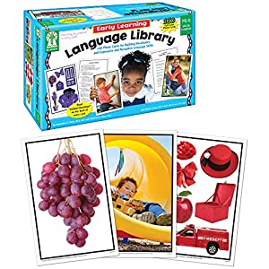 Key Education Early Learning Language Library Cards—PreK-K and Special Learners, Photographic Flashcards to Improve Vocabulary, Language, Communication Skills (160 pc)