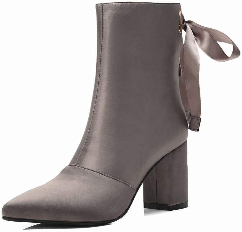 Schuhe - Herbst Und Winter Sexy Mode Stiefel Spitze Quadrat Stiefel   34-39 Damen Stiefel    Online-verkauf