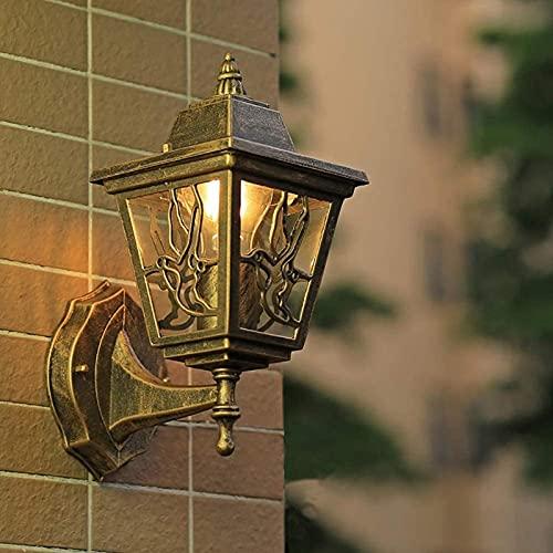 Lâmpada de parede ao ar livre à prova d'água varanda Lâmpada de parede retro corredor luz da escada luz da sala de estar quarto luz do corredor (cor: positiva)