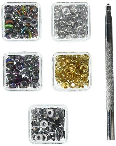 Darice 240-Piece Eyelet Starter Kit, 1/8-Inch