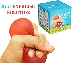 Easyhealth Gel Hand Excercise Ball for Hand Grip Strengthening and Stress Relief, 1 Pc