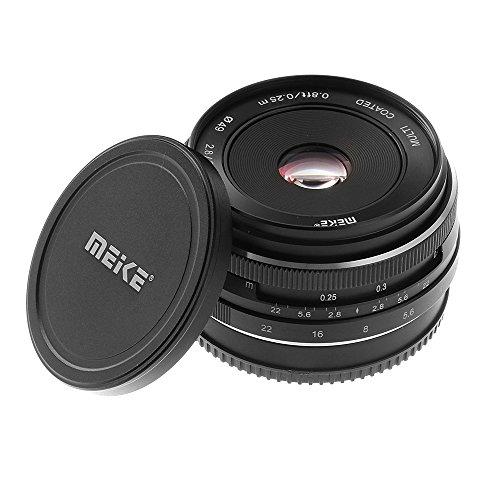 Meike 28mm F / 2.8 Vaste handmatige scherpstellens voor Sony E-mount Nex-3/5/6/7 A5000 A5100 A6000 A6100 A6300 APS-C spiegelloze camera