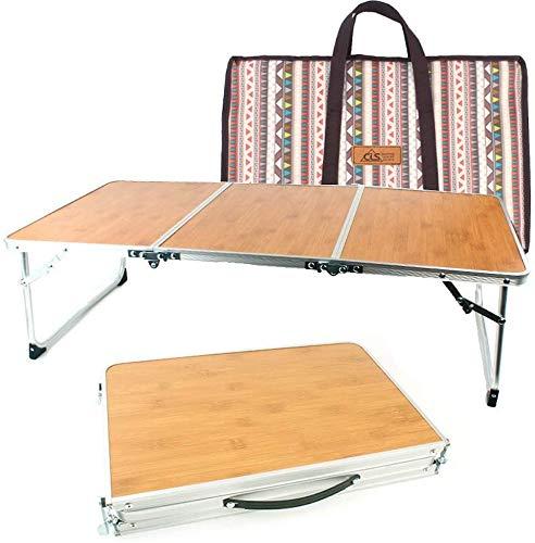 HWZQHJY Aluminium-Klapptisch Tragbare Leichtbau Verstellbare Camping Holztisch for Indoor- und Outdoor-Camping Wandern Picknick Grill Backpacking Angeln