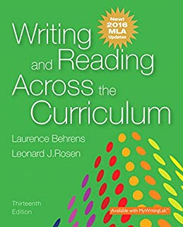 Writing and Reading Across the Curriculum, MLA Update Edition (13th Edition)