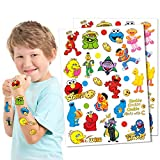 Sesame Street Tattoos For Kids Sesame Street Birthday Party Supplies For Kids-2 Sheet Glitter More Than 18 Style Sesame Street Tattoos Party Decoration