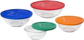Pyrex Smart Essentials 8-Piece Mixing Bowl Set