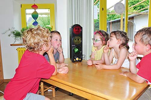 KL-Toys Lärmampel / Ruheampel sorgt für konzentriertes für Lernen in der Gruppe / Material: Kunststoff / Maße: 47 x 15,5 x 8,5 cm