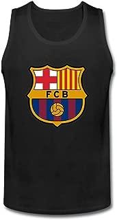XIULUAN Men's FC Barcelona Logo Tank Tops