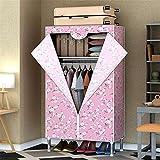 Closet Storage Closet Clothes Portable Oxford Paño de Tela y Vara Colgante Almacenamiento portátil Organizador de Almacenamiento guardarropa Armario Wardrobe Closet Organizer Shelf Wardrobe