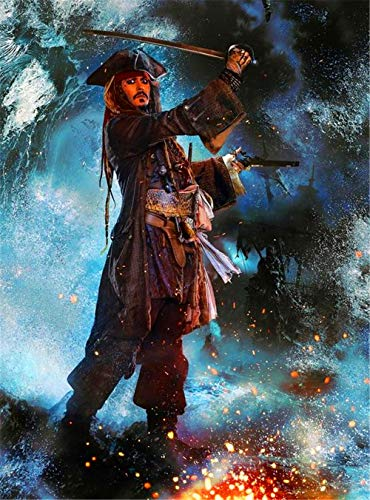 Movie Pirates of The Caribbean 5D DIY Diamond Painting Embroidery Cross Stitch Mosaic, Adult Diamond Painting, Diamond Painting Set, Craft Gift(19.7x27.6inch)