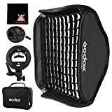 GODOX Softbox 80cm x 80cm Flash Softbox Universal Plegable Kit con Soporte Speedlite Estilo S para Flash Bowens Mount (SFGV8080)