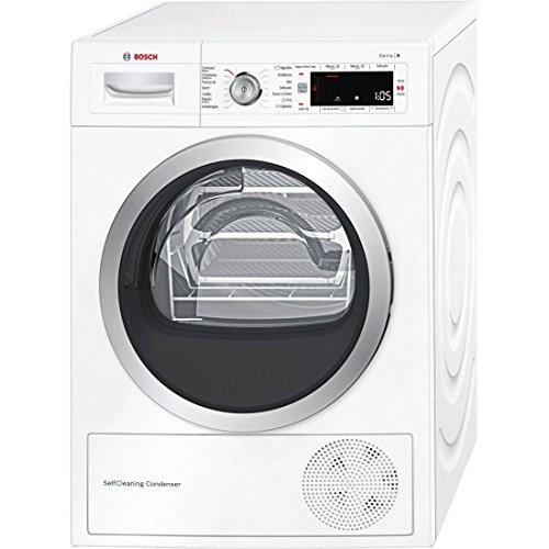 Bosch Serie 8 WTW845W0ES Independiente Carga frontal 8kg A+++ Blanco - Secadora (Independiente, Carga frontal, Bomba de calor, Blanco, Giratorio, Tocar, LED)