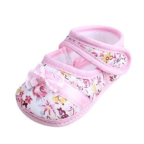 Lauflernschuhe Sandalen,Covermason Kinder Neugeborenes Junge Mädchen Schuhe Sommer Bowknot Drucken Stoff Lauflernschuhe Anti-Rutsch Atmungsaktives Sportschuhe Freizeitschuhe