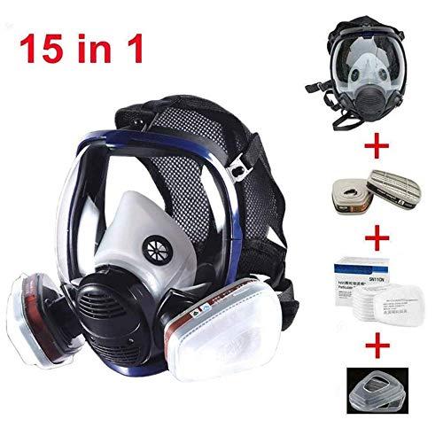 SG style 15-En-1 Máscara Ácida Comprehensive Organic Armor Paint Pesticida Químico Laboratorio Filtro De Polvo