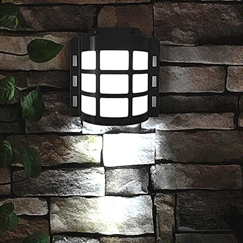 OSALADI Luz de Pared Solar Lámparas de Paisaje de Pared Solares Impermeables Luz de Sensor de Movimiento con Energía Solar Inalámbrica Al Aire Libre para Patio de Jardín