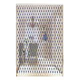 LIQICAI Cortina De Cuentas Bead Strands Cortina para El Pasaje del Armario De La Puerta Hermosa Decoración para El Hogar Cortina De Puerta Divisor De Roma, Azul