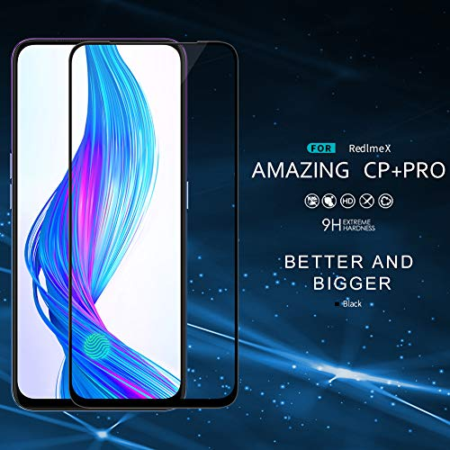 Designerz Hub 6D Tempered Glass (Black) - 9H Full Glue Full HD, Shatterproof, Anti Scratch Screen Guard for Realme X/Oppo K3
