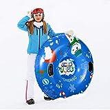 CLISPEED Winter Snow Tube - Barco hinchable de alto rendimiento para niños y adultos