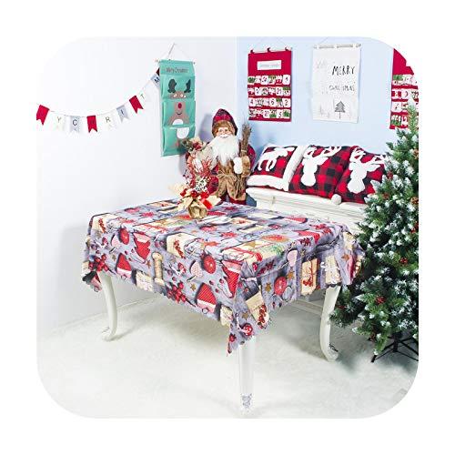 Fun-boutique Tischdecke, Weihnachten, Polyester, Cartoon-Motiv, waschbar, 150 x 180 cm