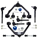 DLZ 10 Pcs Front Suspension Kit-Upper Control Arm Lower Ball Joint Tie Rod End Sway Bar 2WD RWD Compatible with Ford F150 1997-2003 F250 1998-1999 Expedition 1997-2002 K8695T K8726T ES3366T ES3365T