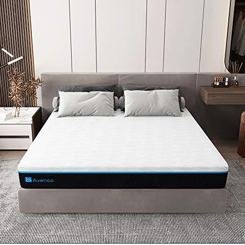 Avenco Matratze 140x200, Premium 18cm Kaltschaummatratze, Atmungsaktiv Matratze H3 mit CertiPUR-US Schaum für Druckentlastung & konstante Temperatur