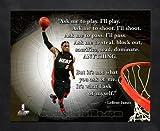 NBA LeBron James Miami Heat Pro Quotes Framed 8x10 Photo #1