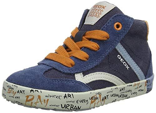 Geox Baby Jungen B Kilwi Boy E Sneaker, Blau (Navy/Dk Orange C4218), 25 EU